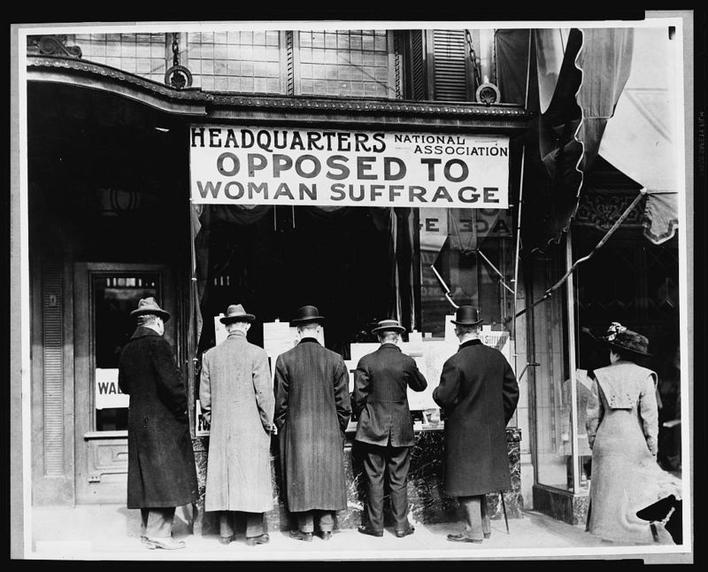 anti-women's suffrage hq