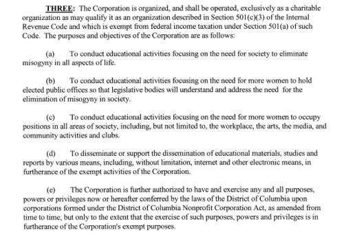 51 per cent corporate org purposes